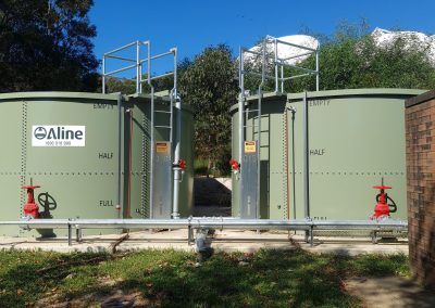new tank and supply wet sprinkler system