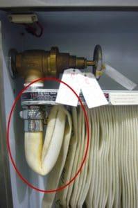fire hose storage fail